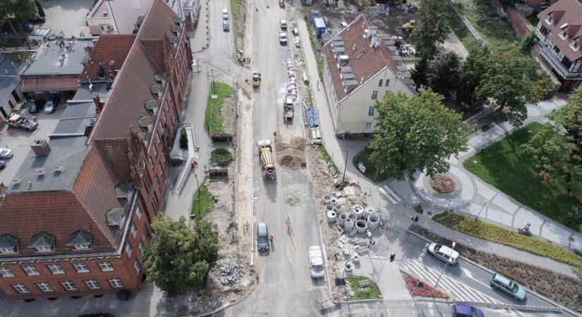 ul. Pieniężnego - zdjęcia z drona - Wrzesień 2017