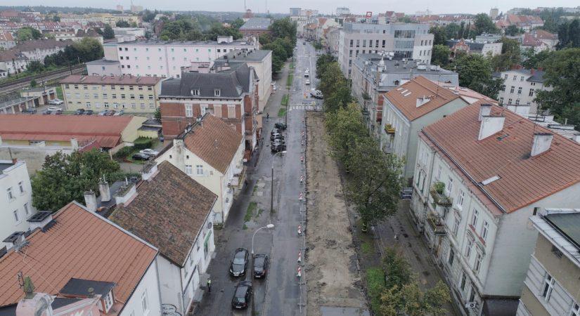 ul. Partyzantów, zdjęcia z drona