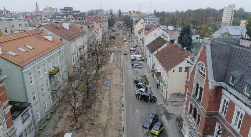 ul. Partyzantów - zdjęcia z drona - Październik 2017